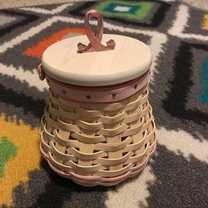 Longaberger Horizon of Hope 2009 Pink Basket